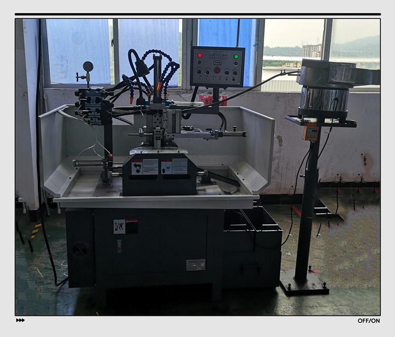 德科精机厂家直销马达轴自动铣扁机